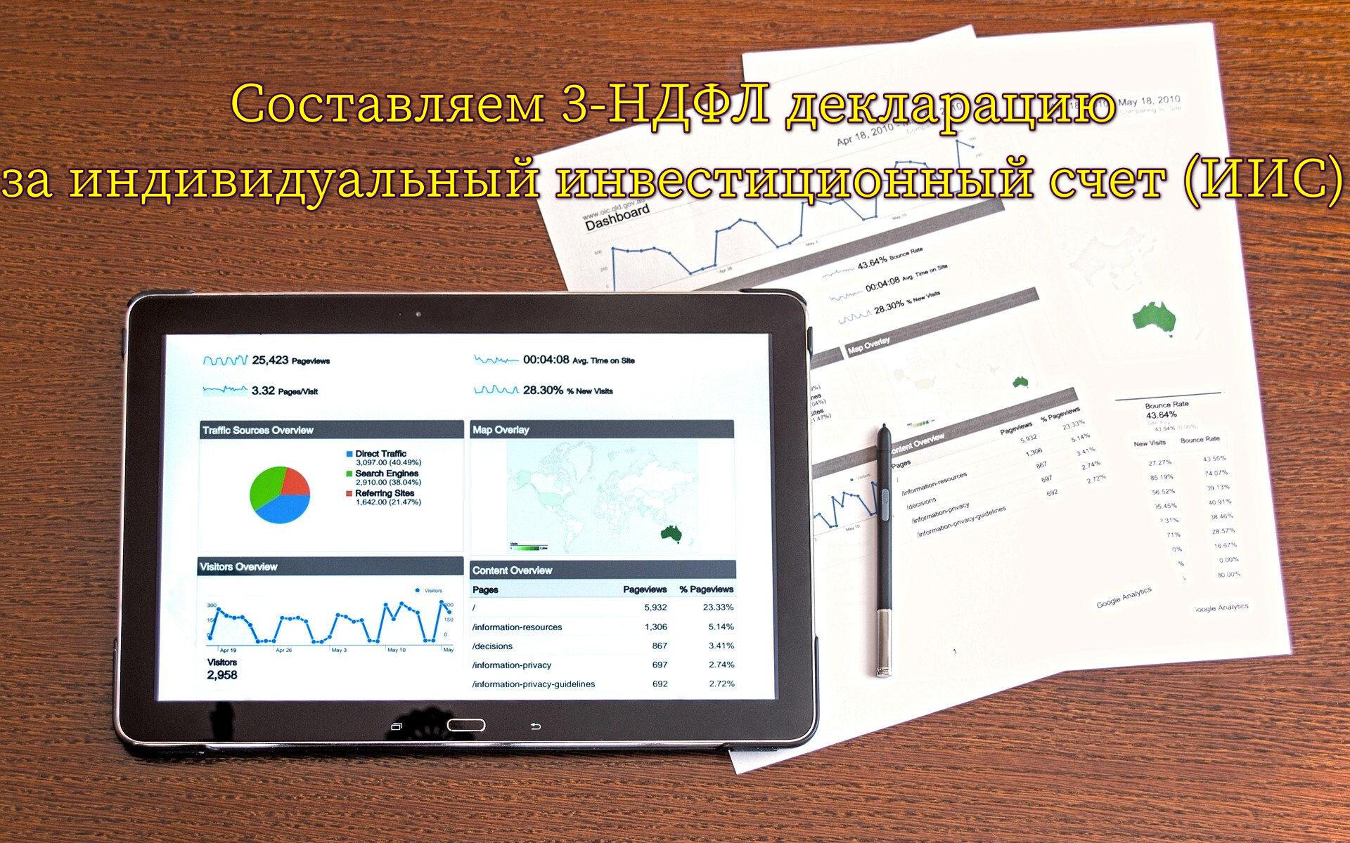 Составляем 3-НДФЛ декларацию за индивидуальный инвестиционный счет (ИИС)